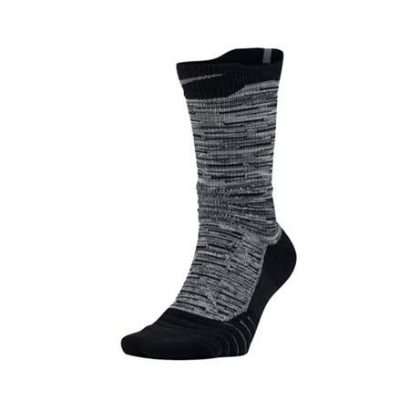 (男) NIKE M NK ELT VERSA CREW 高筒籃球襪-長襪 襪子 一雙入 黑灰 M