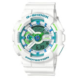 【CASIO 卡西歐】G-SHOCK 盛夏湖水綠運動時尚腕錶(GA-110WG-7A)