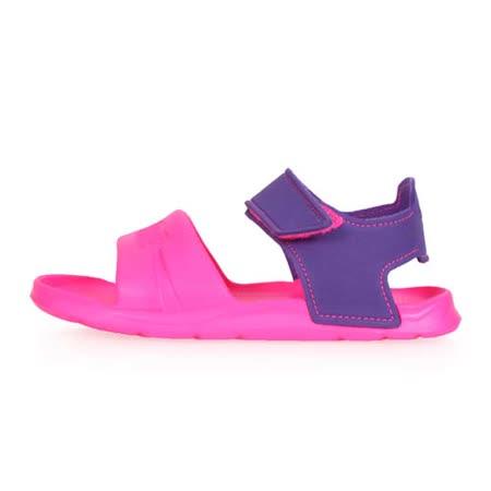 (童) PUMA WILD SANDAL INJEX PS 男女中運動涼鞋 -拖鞋 鞋 螢光粉紫