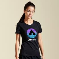 【AIRWALK】夏日經典棉圓領T恤(女)-黑色