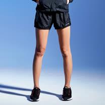 【AIRWALK】太空反光條設計運動短褲(女)-黑色