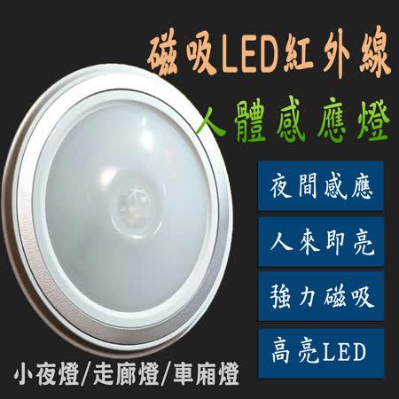 磁吸LED紅外線人體節能感應燈 超亮5LED燈珠 小夜燈 衣櫃燈 車廂燈 人體感應 光源感應 照射距離大 感應靈敏