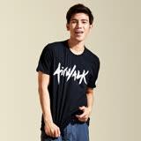 【AIRWALK】個性 LOGO棉圓領T恤(男)-黑色
