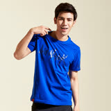 【AIRWALK】個性 LOGO棉圓領T恤(男)-寶藍