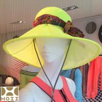 保證原廠~HOII防曬【Hosca花漾法式優雅圓筒帽】★黃光-后益先進光學