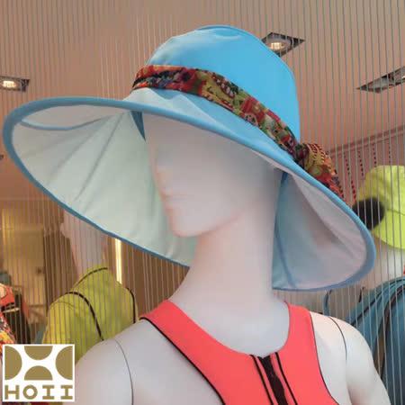 保證原廠~HOII防曬【Hosca花漾法式優雅圓筒帽】★藍光-后益先進光學