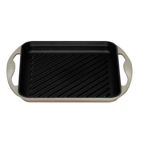 LE CREUSET 鑄鐵雙耳長方型烤盤 (迷霧灰)