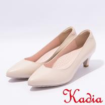 kadia.OL小羊皮素面高跟尖頭鞋(7021-01米)