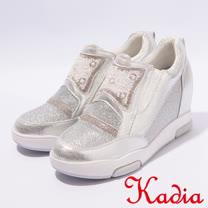 kadia.造型鑽面內增高休閒鞋(7025-18銀)