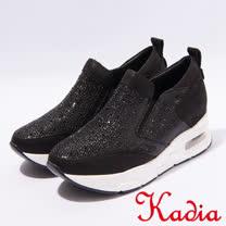 kadia.運動風造型鑽面休閒鞋(7028-98黑)