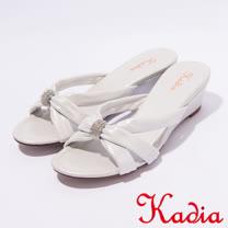 kadia.優雅典美 羊皮拖鞋(7107-11白)