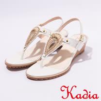 kadia.夏日清涼T字涼鞋(7131-10白)