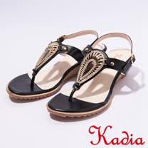 kadia.夏日清涼T字涼鞋(7131-90黑)