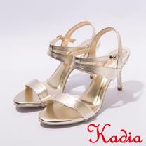 kadia.氣質優雅一字細跟涼鞋(7318-20金)