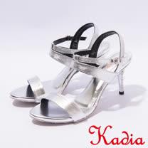 kadia.氣質優雅一字細跟涼鞋(7318-80銀)