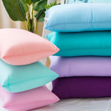 ANNABELLE台灣製造吸濕排汗繽紛水洗抗菌枕(2入)