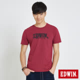EDWIN 斑駁LOGOT恤-男-朱紅色