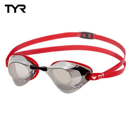 美國TYR Falcon Metallised - Red 成人用競速電鍍泳鏡