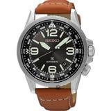 SEIKO精工 Prospex 空軍爭霸機械腕錶-黑x咖啡/42mm 4R35-01N0J(SRPA75J1)