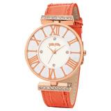 Folli Follie DYNAST 時尚手錶-白x橘/36mm WF1B029SSS-OR