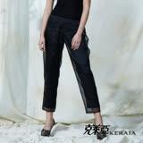 【克萊亞KERAIA】雙層設計感烏干紗長褲
