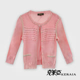 【克萊亞KERAIA】棉織緹花鏤空針織外套