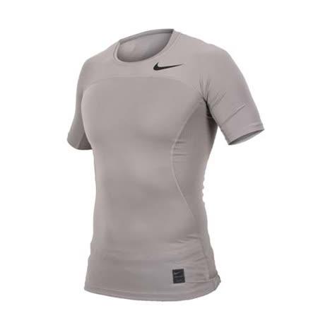 (男) NIKE 短袖針織衫-慢跑 運動 T恤 短T 淺灰黑