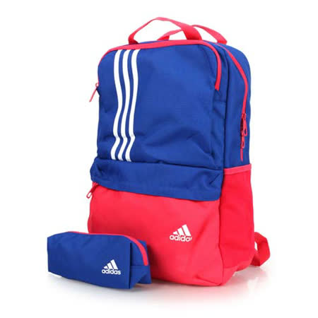 ADIDAS 運動後背包-雙肩包 書包 愛迪達 藍紅 F