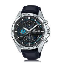 CASIO 卡西歐 EDIFICE 時尚三眼計時皮帶男錶 EFR-556L-1A