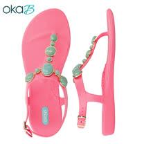 【OkaB】 ISLA寶石美型Y字涼鞋 粉色(K660-PIN)