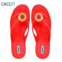 【OkaB】RASHA典雅寶石夾腳拖鞋 紅色(K4824-RE)