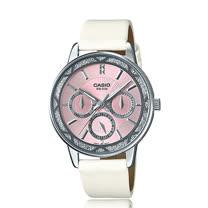 CASIO 卡西歐 氣質皮錶帶指針三眼淑女錶 LTP-2087SL-4A