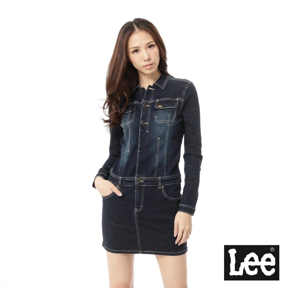 Lee 101 連身洋裝 長袖牛仔 ~女款 深藍
