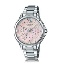 CASIO 卡西歐 SHEEN 時尚奢華晶鑽女錶 SHE-3056D-4A