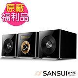 福利品-山水SANSUI 數位式藍芽/USB/CD/FM床頭音響組 MS-616