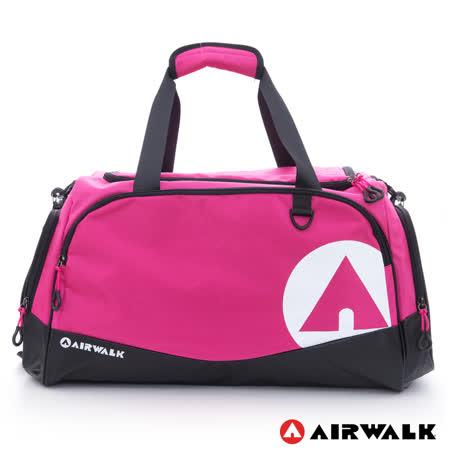 AIRWALK -大個子 運動家專用超大尼龍旅行袋-中紅