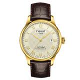 TISSOT 天梭 Le Locle 80小時動力儲存復古機械手錶/40mm/T0064073626300