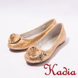 kadia.花朵鑽石娃娃鞋-金3008-21