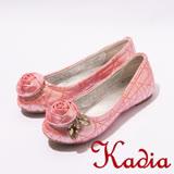 kadia.花朵鑽石娃娃鞋-粉3008-61