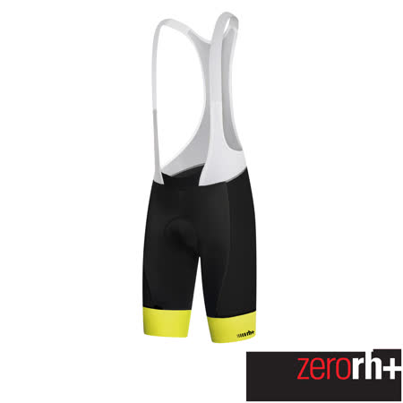 ZeroRH+ 義大利HERO專業吊帶自行車褲 ●黑/白、黑色、螢光黃● ECU0327
