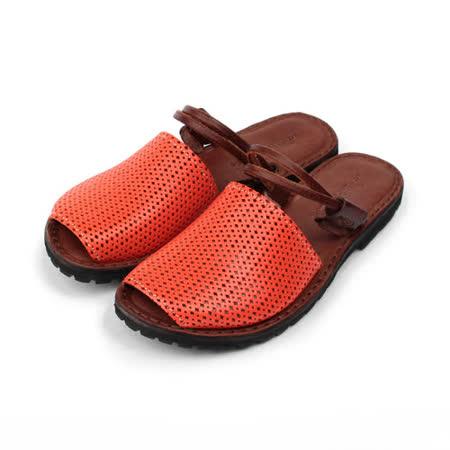(女) X-shock 手工真皮編織女涼鞋 柑 女鞋 鞋全家福