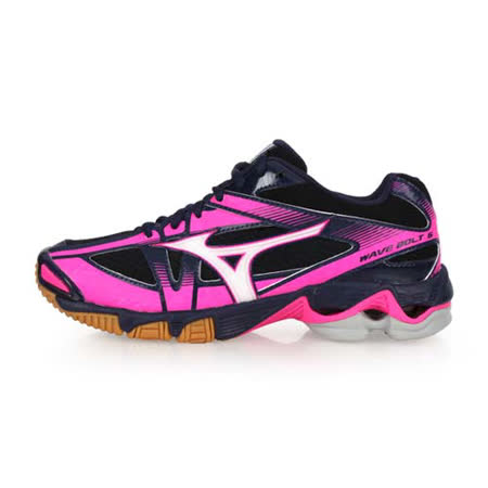 (女) MIZUNO WAVE BOLT 6 排球鞋- 美津濃 丈青桃紅