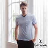 Valentino Rudy 范倫鐵諾.路迪 吸濕排汗超冰涼機能T恤衫-紫藍-雙圓領+口袋