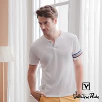 Valentino Rudy 范倫鐵諾.路迪 吸濕排汗超冰涼機能T恤衫-白色-小V領