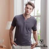 Valentino Rudy 范倫鐵諾.路迪 吸濕排汗超冰涼機能T恤衫-鐵灰-小V領