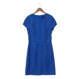 GINKOO 復古圓點洋裝-藍