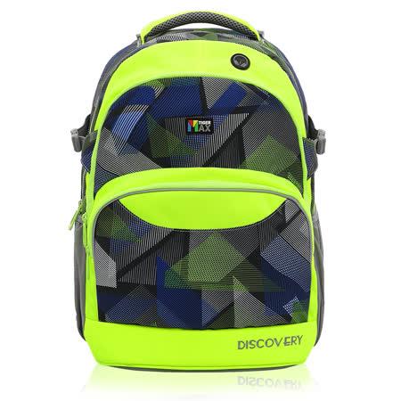 ★新品上市★Tiger Family探險家調整型超輕量護脊書包-螢光幾何