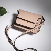 O-ni O-ni真皮新款韓版牛皮側肩包女士純色風琴包JZL-1009-粉色