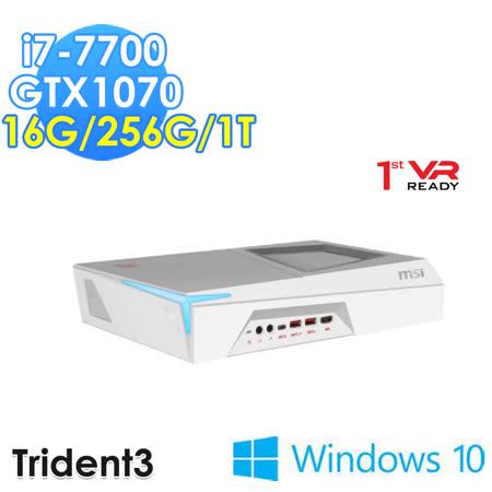 msi微星 Trident 3 Arctic VR7RD-094TW i7-7700 GTX1070 WIN10 電競桌機