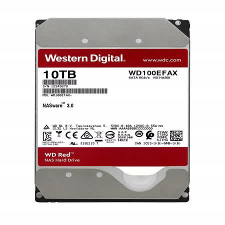 WD 威騰 WD100EFAX 紅標 10TB 3.5吋NAS硬碟(NASware3.0)